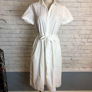 LOFT off white shirt dress. Size 10